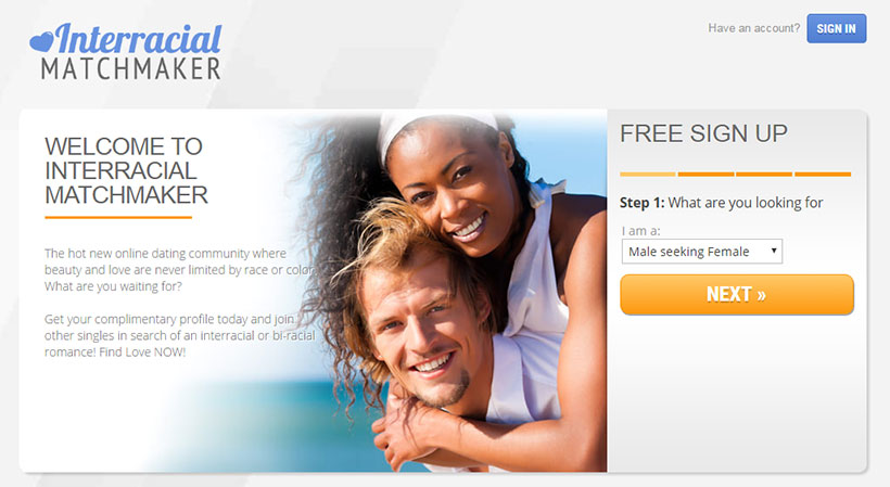 Interracial Matchmaker Homepage
