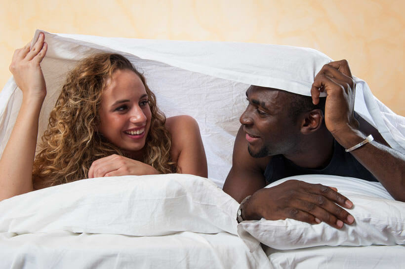 Real interracial couples having sex