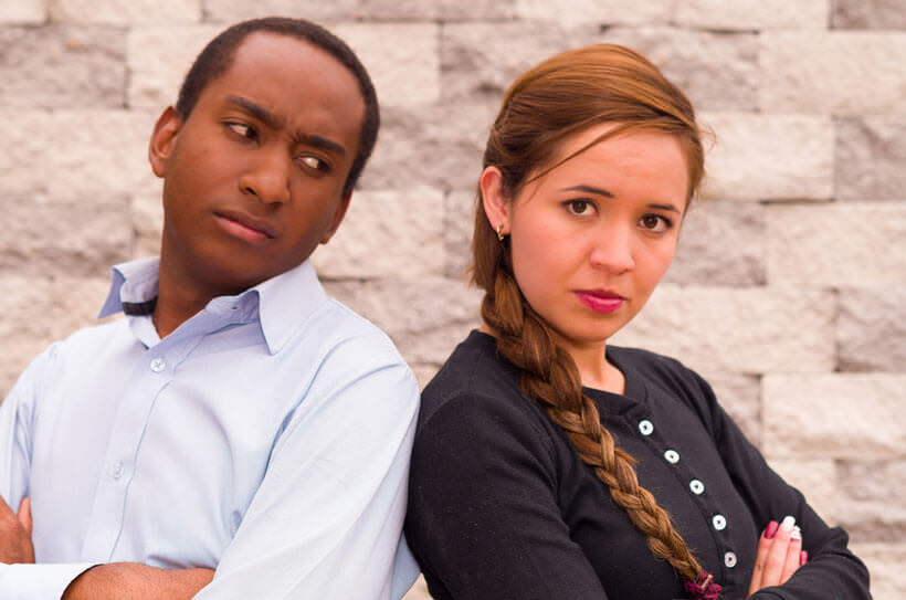 interracial couple worried